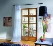 Porte fenêtre en embrasure avec imposte fixe