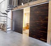 Porte intérieure replaquée bois coulissante